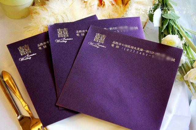 120磅金莎纸-西式信封-16.5x16.5公分-紫色
